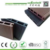 wood plastic composite waterproof eco patio decking 120H19