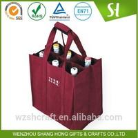 Alibaba China Cheap customized 6 bottle wine tote bag