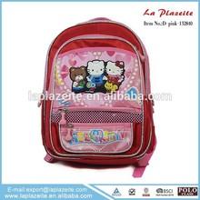 beautiful cute little girl hello kitty school bag for children