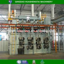 The annual best sales hanger chain suspension stepping/accumulation type shot blasting machine