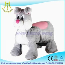 Hansel high quality coin operated plush motorized animals for mall