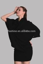 The merino wool dolman sleeve coat of women with 3/4 sleeve