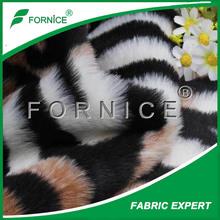 tiger stripes fake jacquard fur plush fabric for upholstery