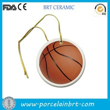 2015 basketball printing special ceramic Gift Hanging Ornament