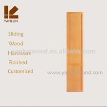 simple design oak wood finished bedroom wardrobe design in sliding door