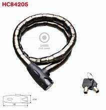 Folding Armored lock, brass bike lock with key for motorbike