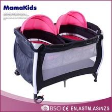 Wholesale children sleeping cot useful foldable double travel baby playpen