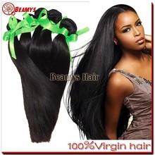 Grade 6A sliky straight hair, virgin cheap indian remy hair weft