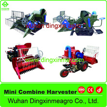 Agricultural LZ series walking tyre-type/riding track-type rice harvester/mini combine wheat harvester