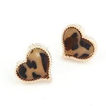 Queenzen 2015 hot sale new products earring with black leopard grain designed earrings