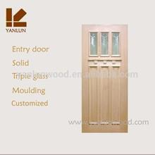 factory made in china hot sale mdf with oak veneer office glass door