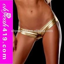 Wholesale sexy golden panty metallic shorts sexy women underwear