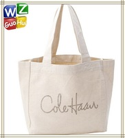 Small natural white cotton canvas fabric bags,