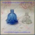 venta al por mayor forma de la flor de esmalte de uñas botella de vidrio con tapa de plástico