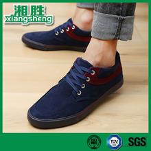 Rubber Sole Antiwear Shoelace Blue Men Wholesale Canvas Shoes