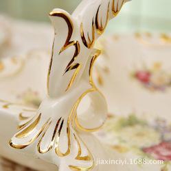 European ceramic ornaments luxury home fashion creative ceramic fruit bowl wedding gift new home