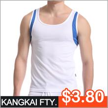 wholesale men cotton cheap basketball sportswear tank tops KP321