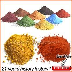 Different color ferric oxide pigment powder for bitumen/concrete/paving/mixed asphalt