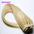 Primas indio del pelo humano, baratos 100% clip del pelo humano en la extensión del pelo