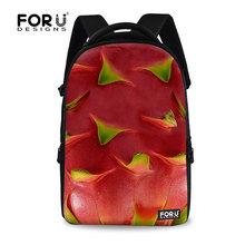 Colorido delicioso impressão frutas Pitaya mochila para os alunos da escola