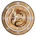 Piedra pietra dura mesa de comedor, Forma de la flor de mármol del embutido