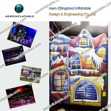 Inflatable cartoon house of stage decoration for events