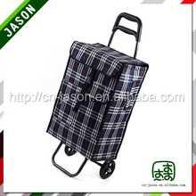 foldable luggage cart shopping cart pu caster