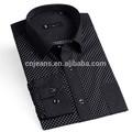 la acción de diseño italiano de la camisa de los hombres ropa de la marca famosa camisas de manga larga para los hombres