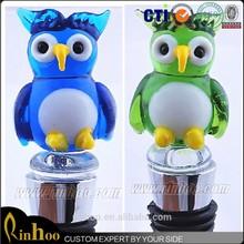 Handmade owl murano glass wine bottle stopper gift craft