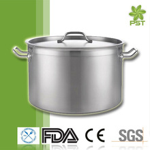 Polished Capsule Bottom Sanding Stainless Steel Stock Pot Stockpot Cook Ware Water Pot Kitchen Cookware Sets Die Cast Cookware