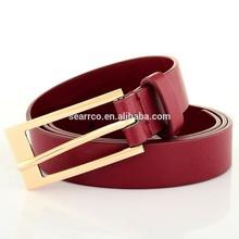 2015 PU leather Women Belt for leisure wholesale fashion lady's PU belt