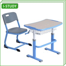 Commercial discount single student desk with chair