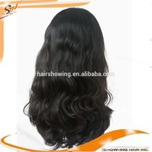 long hair natural color human hair band fall wig