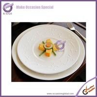k4157-1 white wholesale hotel used cheap bulk dinner plates for weddings