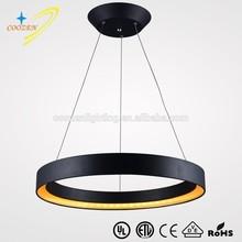 GZ30017-1R fashion design modern home decoration wholesale led black iron ring hanging light