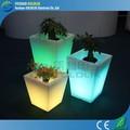 Colorida decoración recargable led maceta/china de fábrica de bajo precio led iluminado macetas maceta
