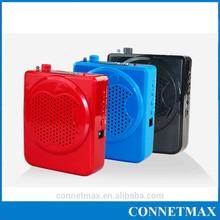 2015 Hottest! TF card music speaker TS-02 fm radio loud voice amplifier waistband portable megaphone