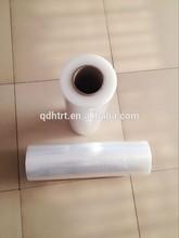 High viscosity, no residual glue stretch film with good elastic