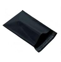 Black Printed Plastic Mailing Imprinted Postage Bag