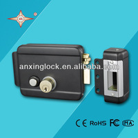 top-security electric rim lock with brass latch, combination lock