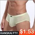 venda quente nova moda sexy mens boxer shorts de seda kk612