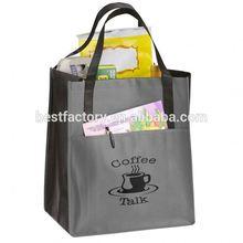 Fold Up Nylon Bag Nylon Tote Bag With Outside Pockets