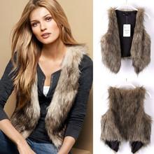 2015 Womens Winter Warm Faux Fur Short fur Vest pattern SV005512