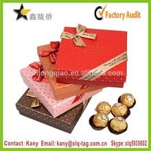 2015 fancy paper diy chocolate gift packaging box, homemade chocolates gift boxes,chocolate gift box