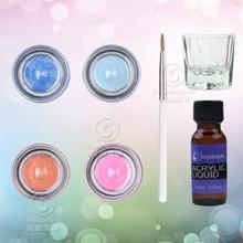 acrylic polymer powder kit for crystal nail polish art