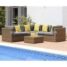 2015 Popular rattan corner sofa