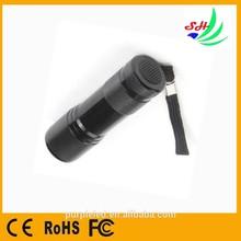 Mini Led Torch 9 LED Aluminum uv flashlight