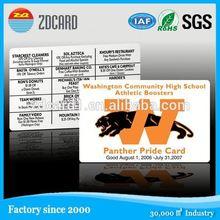 Transparent plastic standard branded vip calling card