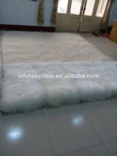 100% Long Hair Mongolian Animal Bleached Mongolian Sheep Skin