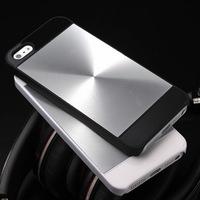 Hybrid CD grain metal plus plastic fancy glow aluminum phone case for iphone 5 5S V